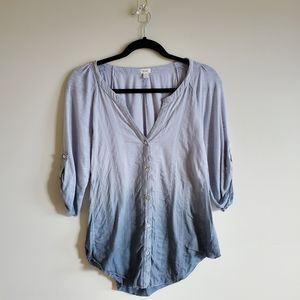 Anthropologie TINY ombre casual button up